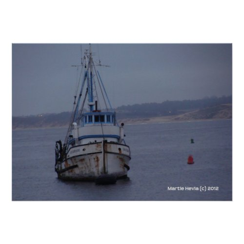 Boat on Monterey Bay zazzle_print