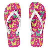 Boho Butterfly Parade Flip Flops