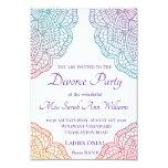 Boho Style Divorce Party Invitation
