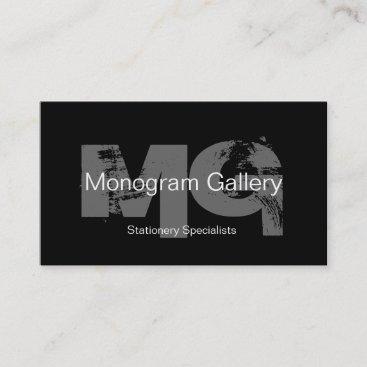 Bold Monogram Customizable Business Card