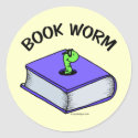 Book Worm Stickers