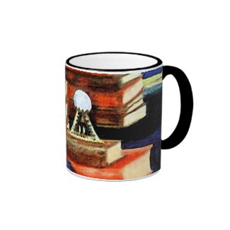 Books Reading Learning Customizable Coffee Mugs
