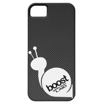 Boost Gets You Laid Snail w/ Faux Carbon Fiber iPhone SE/5/5s Case