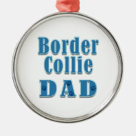 Border Collie Dad Christmas Ornament