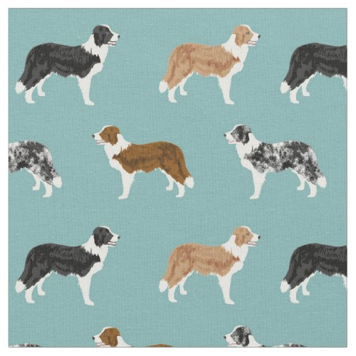 border collie dogs pet light blue fabric