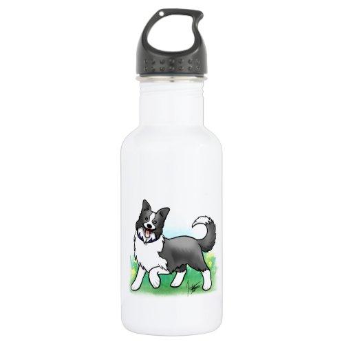 Border Collie Water Bottle