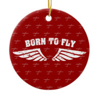 Born To Fly Wings Ornaments