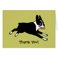 Boston Terrier Thank You (Customizable) Card