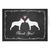 Boston Terriers Wedding Thank You Card