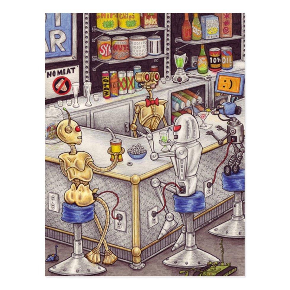 Bots' Nite Off postcard