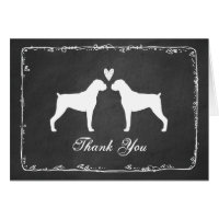Boxer Dogs Wedding Thank You Card