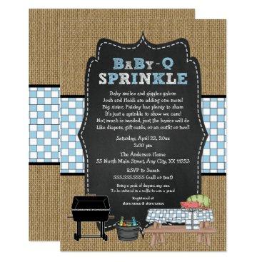 BOY BabyQ Sprinkle, BBQ Baby Shower, BABY Q Invitation