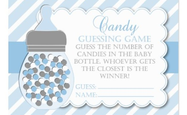 Boy Bottle Baby Shower Guessing Game Large Business Card