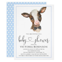 Farmparty Us Cow Baby Shower Invitations