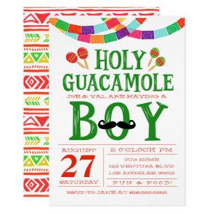 Boy S Baby Shower Fiesta Invitation