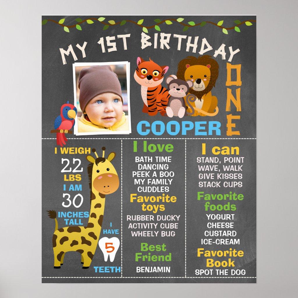 boy 1st birthday invitation templates