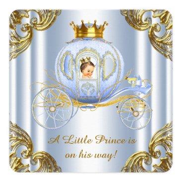 Boys Prince Royal Carriage Prince Baby Shower Invitation