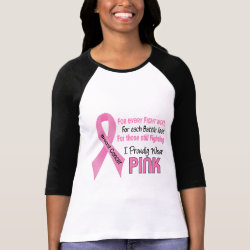 Breast Cancer I Proudly Wear Pink 1 Tee Shirts