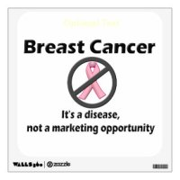 Breast Cancer Wall Decals & Wall Stickers | Zazzle