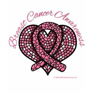 Breast Cancer Mosaic Heart Ribbon shirt