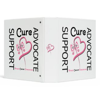 Breast Cancer Support Advocate Cure binder
