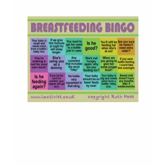 Breastfeeding Bingo shirt