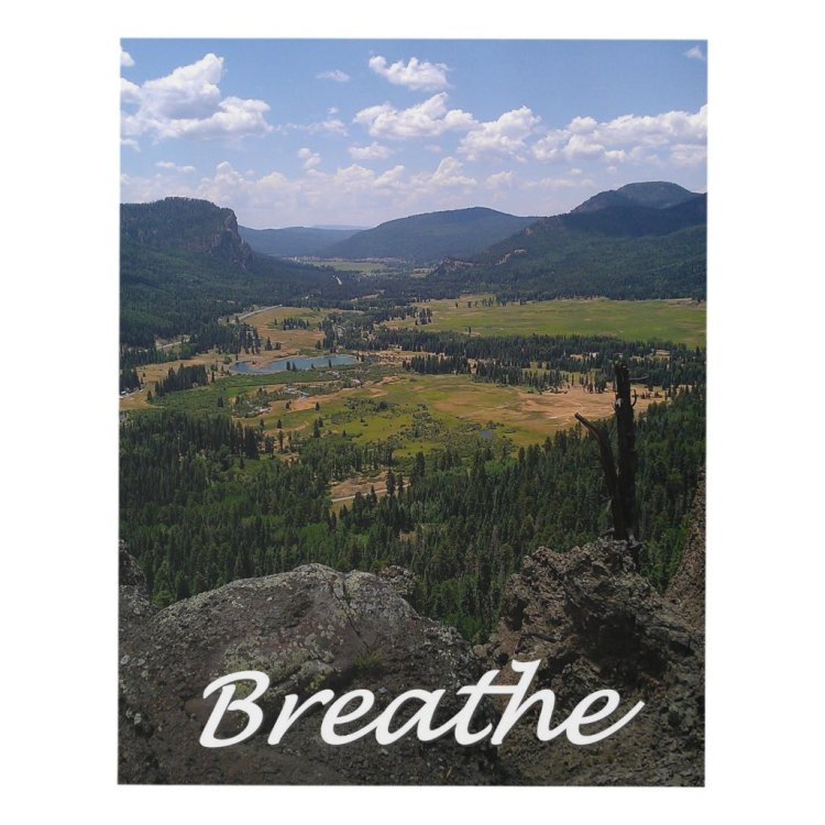Breathe - A Mountain View Panel Wall Art