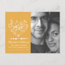 Breathless SAVE THE DATE Postcard- saffron