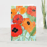 Pretty Red & Yellow Poppies Greeting Card