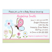 Bria Garden/Butterfly Baby Shower Invitation