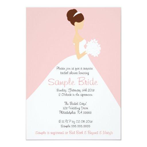 bridal shower brown hair bride