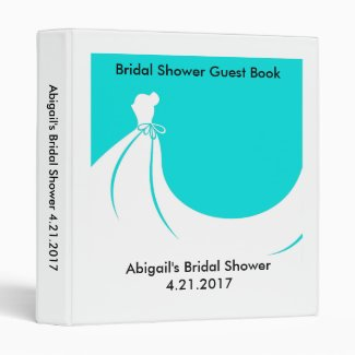 Bridal Shower Guest Book Binder