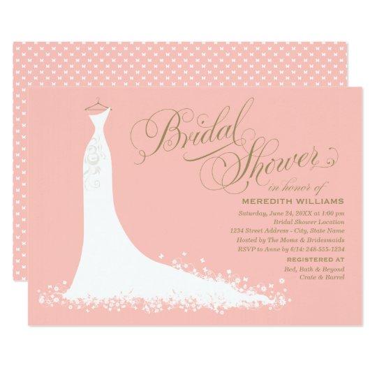 Straps Wedding Dresses Layout Bridal Shower Invitations Hpb106