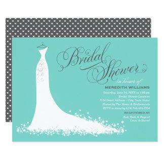 Printable Wedding Dress Bridal Shower Invitations Online Inbs035