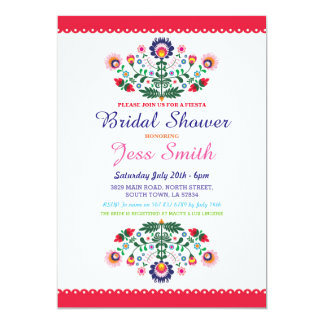 Bridal Shower Party Fiesta Mexican Fl Invite