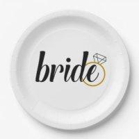 Bridal Shower Plates   Zazzle