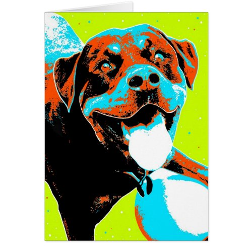 Bright and Fun Rottweiler Portrait