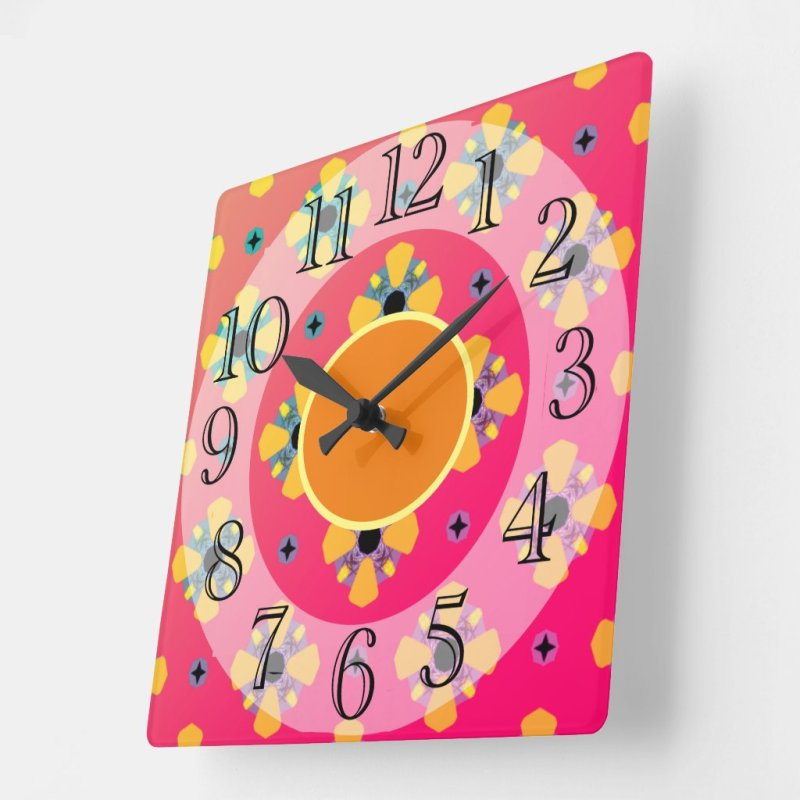 Bright Birthday/Special Day Gift Wall Acrylic Square Wall Clock