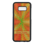 Bright Colorful Orange Yellow Green Abstract Carved Samsung Galaxy S8+ Case