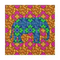 Bright Colorful Paisley Elephant Wood Wall Art Wood Prints ...