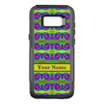 Bright colorful yellow purple curls pattern OtterBox commuter samsung galaxy s8+ case