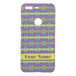 Bright colorful yellow purple curls pattern uncommon google pixel case