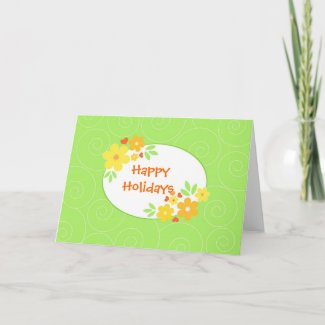 Bright flowers - Card