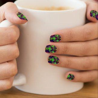Bright Fractal/Kaleidoscope Minx Nail Wraps