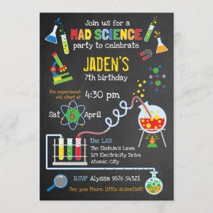 science party invitations zazzle