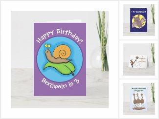 Bright happy birthday cards