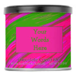 Bright Pink Green Color Swish Abstract Hot Chocolate Drink Mix