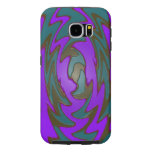 Bright purple teal abstract samsung galaxy s6 cases