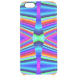 Bright Rainbow colors Pattern Uncommon Clearly™ Deflector iPhone 6 Plus Case