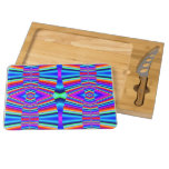 Bright Rainbow pattern Rectangular Cheeseboard